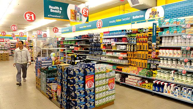 Supermercados em Londres Poundland 2