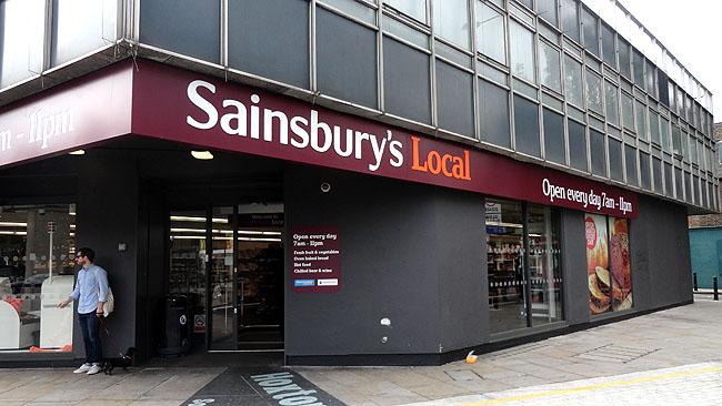 Supermercados em Londres Sainsburys 2
