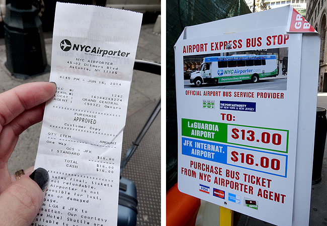 Transfer onibus NYC Airporter Manhattan JFK