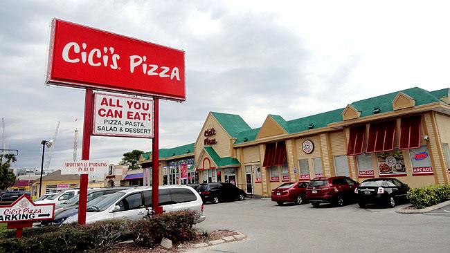 Cicis Pizza Onde comer bem e barato em Orlando 1