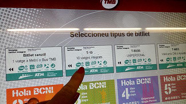 Barcelona como comprar tiquete metro