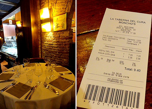 Barcelona onde comer Taberna del Cura