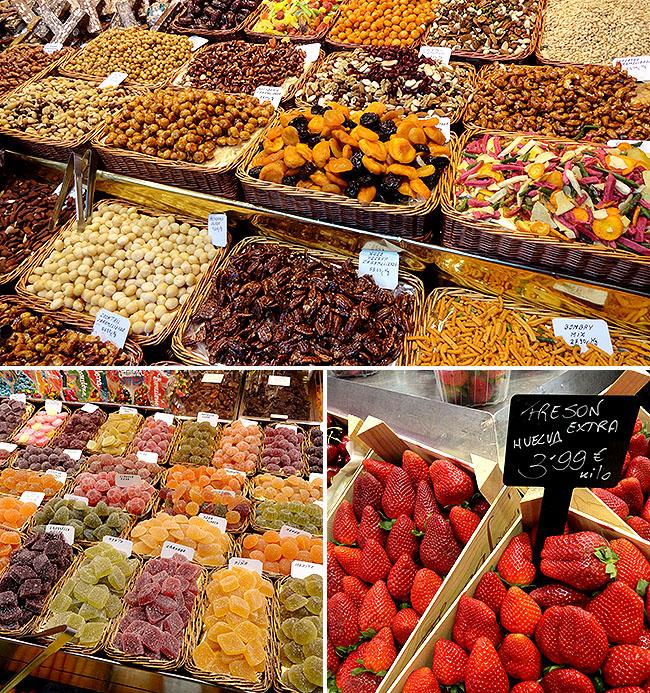 Barcelona pontos turisticos Mercado La Boqueria