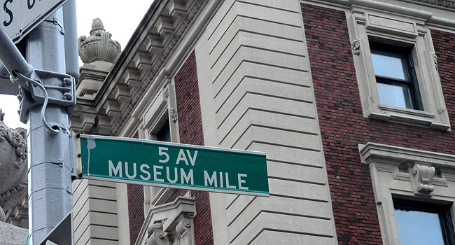 Nova York Museum Mile 5th ave