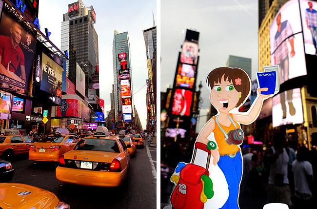 Nova York Times Sqaure Taxis