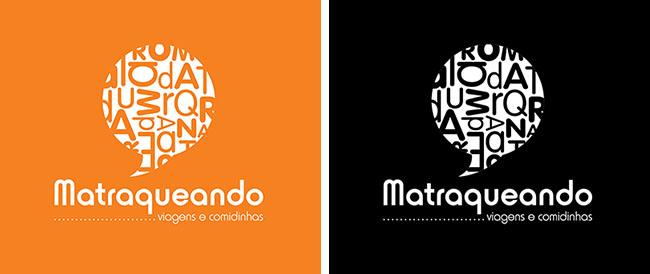 Logomarca Matraqueando Laranja e Preto