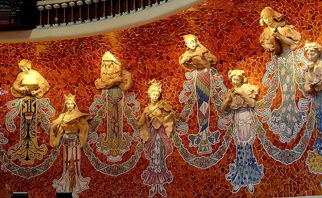 Palau Musica Catalana arquitetura deusas