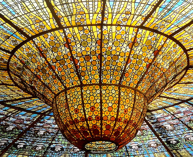 Palau Musica Catalana  claraboia detalhe