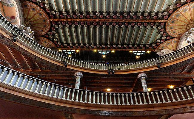 Palau Musica Catalana sala de concertos teto