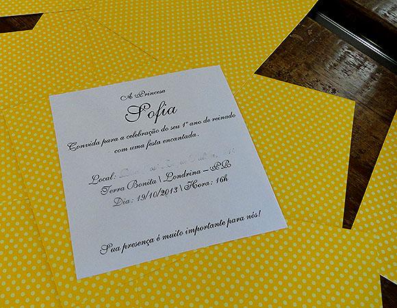 Convite Festa Princesa Sofia impressao