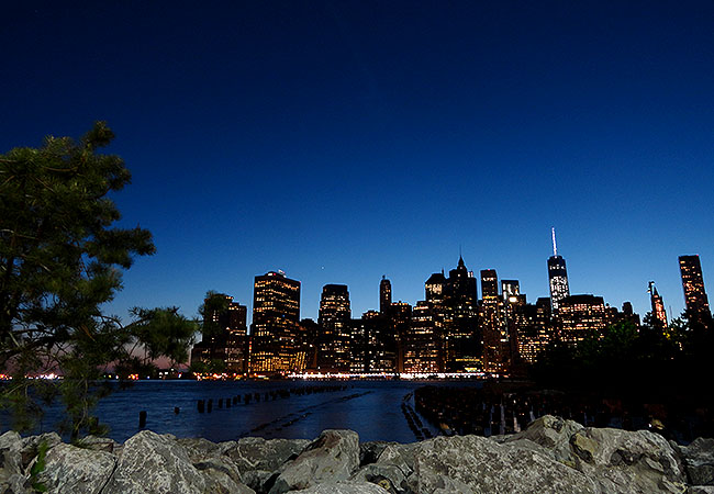 Vista de Manhattan desde o Brooklyn