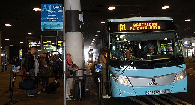 Como ir do aeroporto de Barcelona ao centro - aerobus