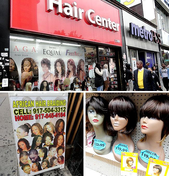 Harlem compras perucas cosmeticos