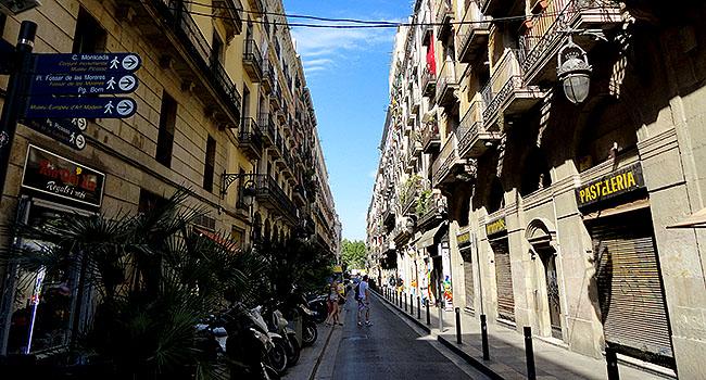 La Ribera Ruas de Barcelona