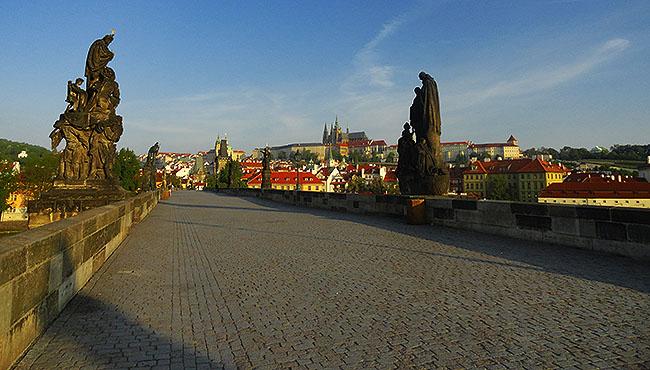 Praga Republica Tcheca Karluv Most Amanhecer