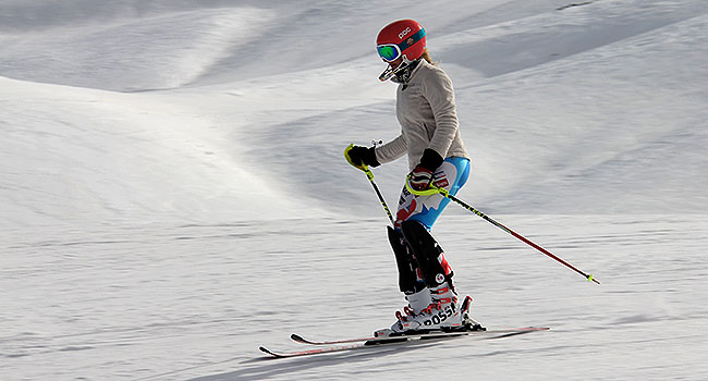 Valle Nevado Santiago Chile Esquiadora