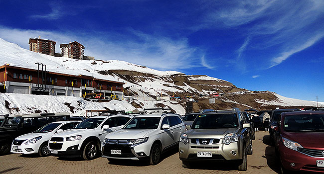 Valle Nevado Santiago Chile Estacionamento