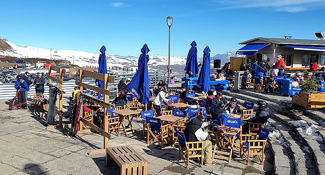 Valle Nevado Santiago Chile Plaza la Gondola