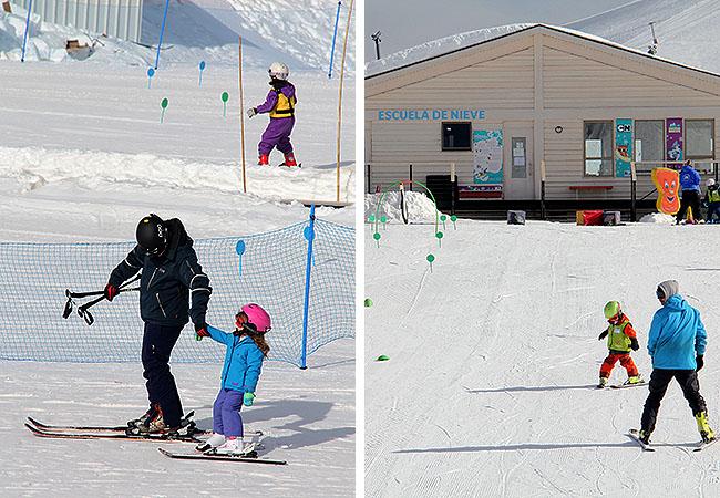 Valle Nevado Santiago Chile aulas de esqui para crianca