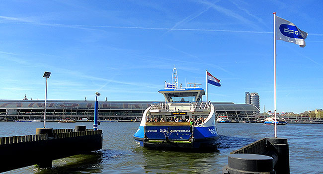 ClinkNOORD Hostel Amsterdam ferry