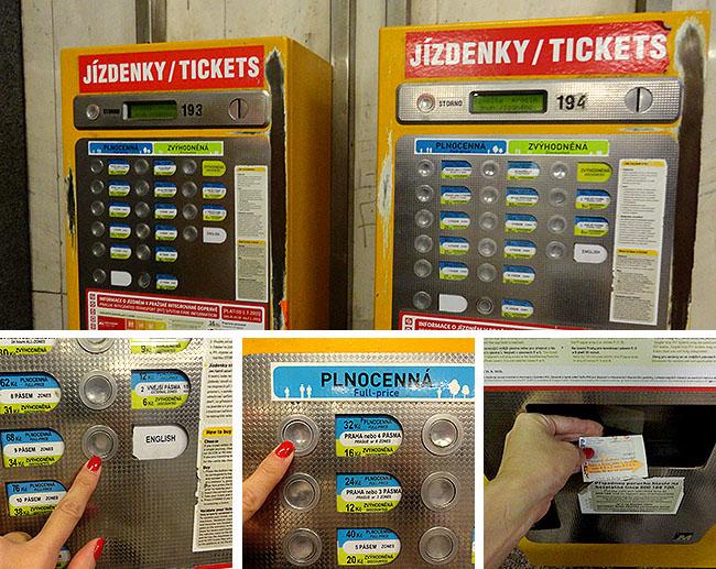 Praga como comprar tickets transporte