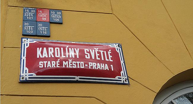 Praga placa de rua