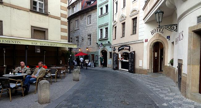 Praga ruas centro historico