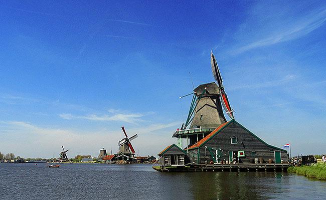 Zaanse Schans Holanda moinhos