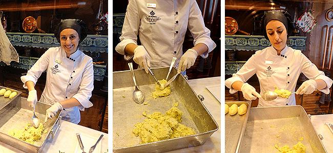 Casa Portuguesa Pasteis de Bacalhau - preparacao do pastel de bacalhau