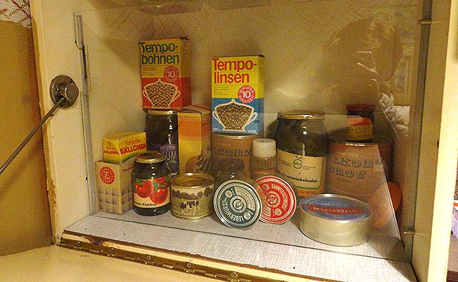 DDR Museum Berlim - alimentos
