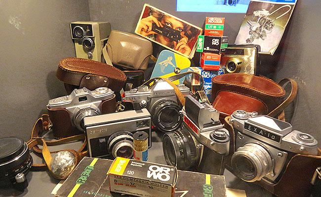 DDR Museum Berlim - cameras
