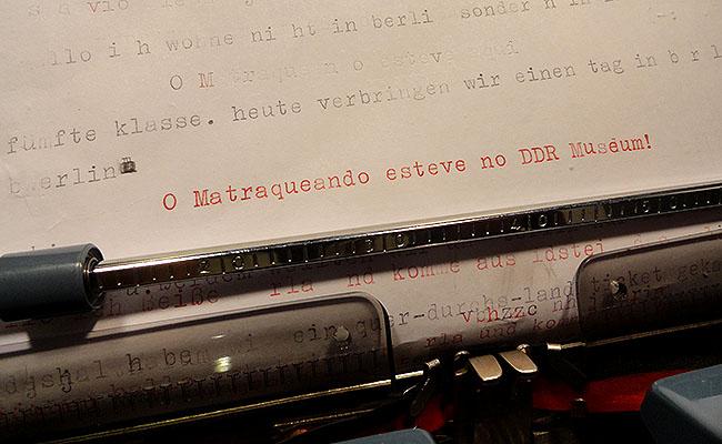 DDR Museum Berlim - maquina de escrever