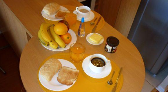 Café da manhã em Santiago do Chile