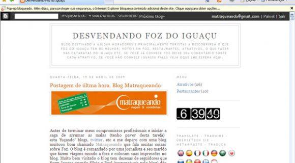Matraqueando no blog Desvendando Foz
