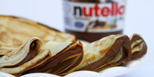 Panquequinhas com Nutella