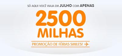 Promoção Smiles: viajar em julho com apenas 2500 milhas